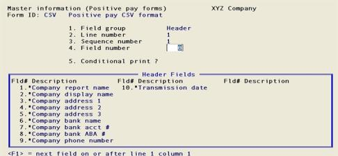 Introduction to Positive Pay File Forms